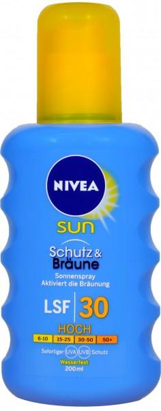 Nivea Sun Protect and Bronze Sun Spray SPF 30, 200 ml