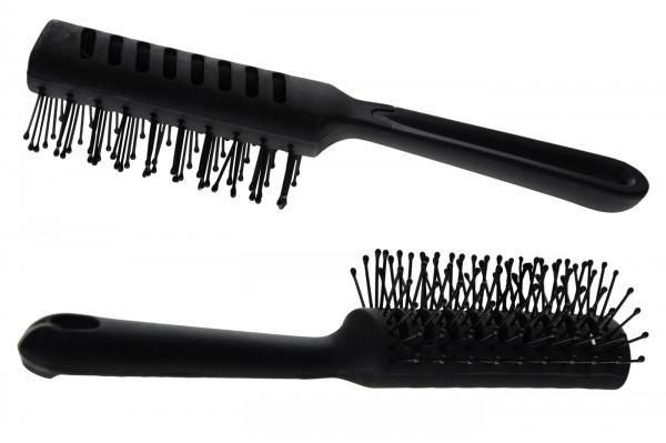Hairdryer Brush, rounded, black, 761