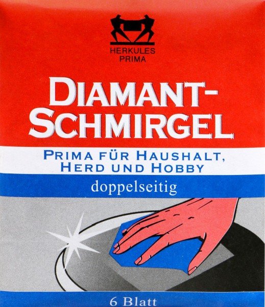 Herkules Diamond Emery double-sided, Household, Stove, Hobby, 6-count