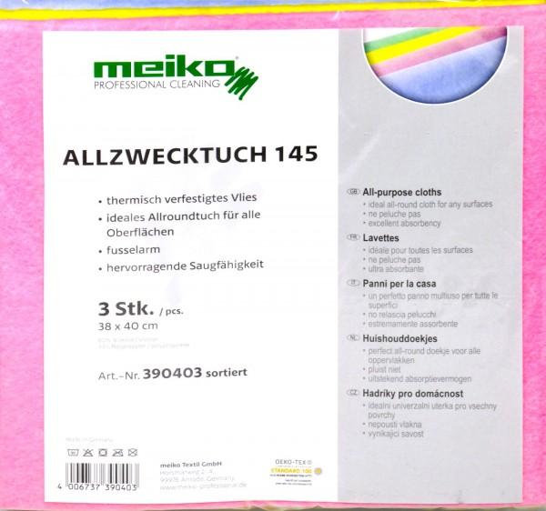 Meiko Fleece All-purpose Cloth, 3-pack