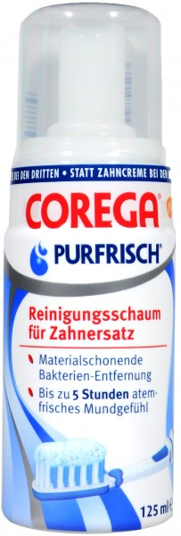 Corega Pure Fresh Foam Cleaner, 125 ml