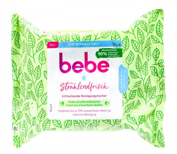 Bebe Young Care 5-in-1 Refreshing Cleansing Wipes, 25-count