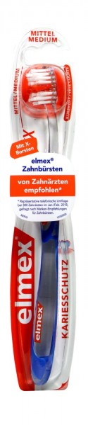 Elmex Inter X Toothbrush, short head, medium