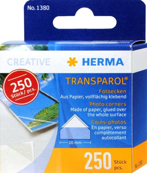 Herma Transparol Photo Corners 1380, 250-count