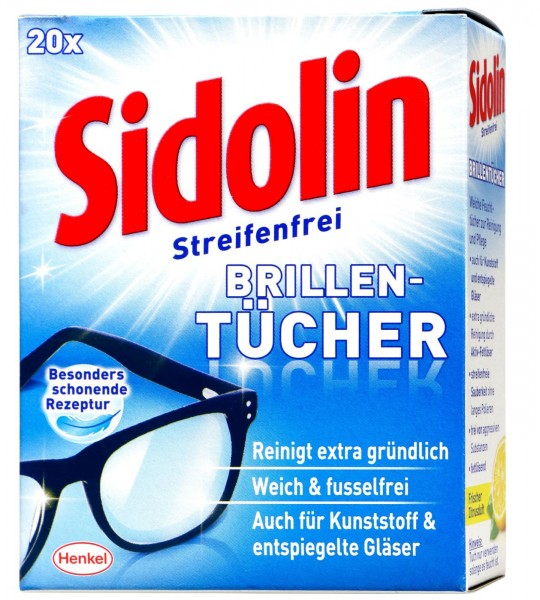 Sidolin Lens Wipes, 20-pack