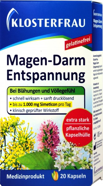Klosterfrau Gastrointestinal Calming Capsules, 20-count