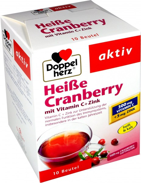 Doppelherz Hot Cranberry with Vitamin C + Zinc, 10-count