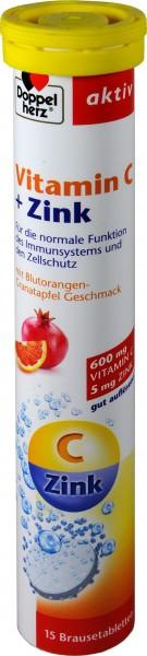 Doppelherz Vitamin C + Zinc Effervescent Tablets, 15-count