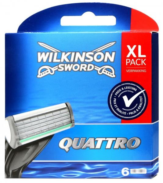 Wilkinson Quattro razor blade, 6 PK