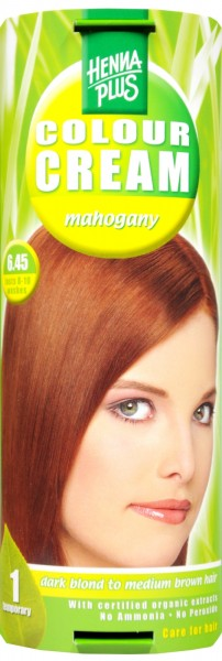 Hennaplus Colour Cream, Mahogany, 6.45