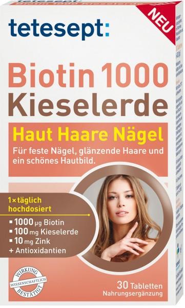 Tetesept Biotin 1000 + Silica, 30-count