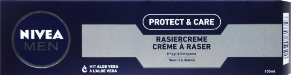 Nivea Men Protect & Care Shaving Cream, 100 ml