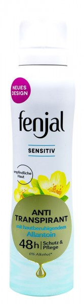 Fenjal Deo Spray Anti-Transpirant Sensitiv 48h, 150 ml