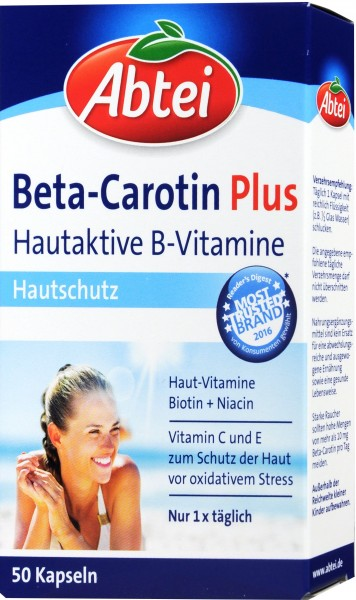 Abtei Beta-Carotin Plus, 50-count