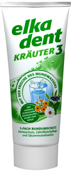 Elkadent Herbal 3 Toothpaste, 75 ml