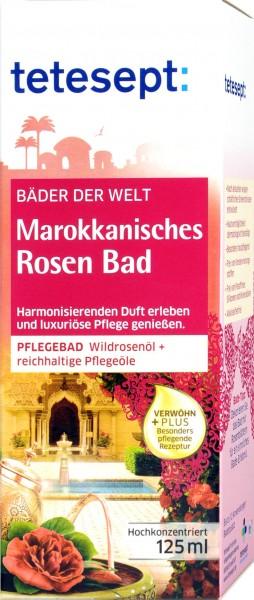Tetesept Moroccan Rose Bath Soak, 125 ml