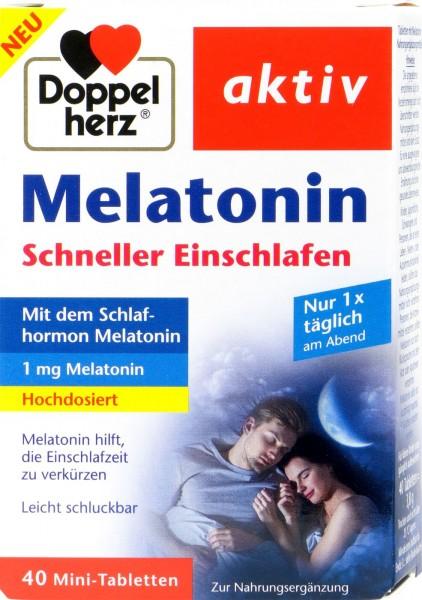 Doppelherz Melatonin Faster Sleep High Dose, 40-pack