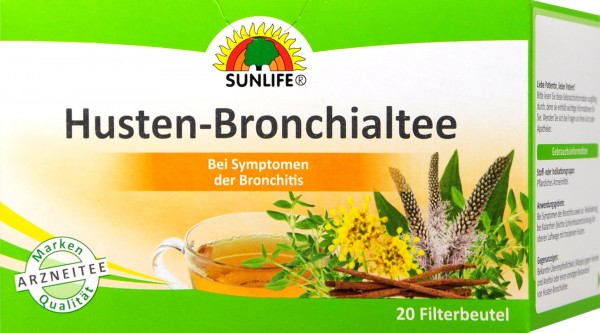Sunlife Cough and Bronchial Tea, 20-count