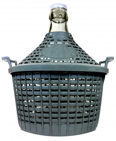 Demijohn in Plastic Basket, 5 l