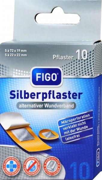 Figo Antibacterial Silver Plaster, 10-count