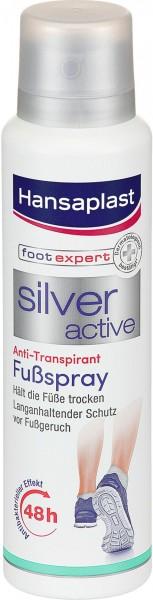 Hansaplast Silver Active Foot Spray, 150 ml