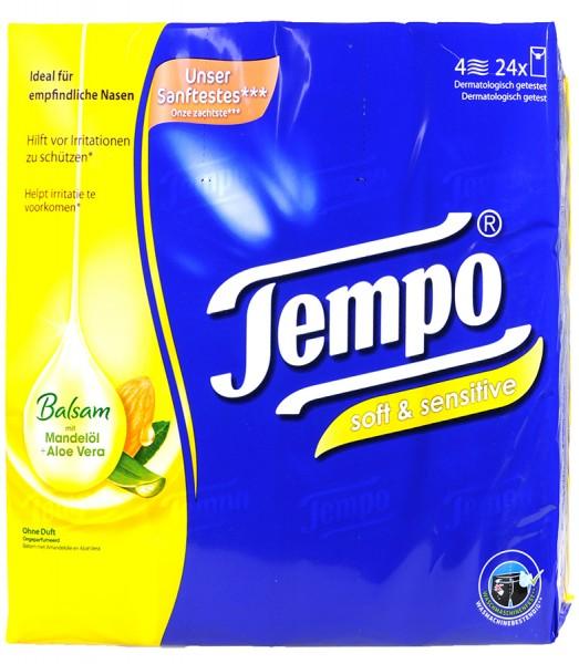 Tempo Soft & Sensitive Balsam Almond Oil and Aloe Vera, 24 x 9