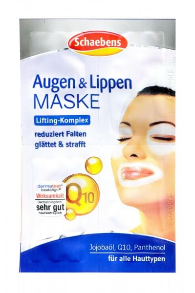 Schaebens Eye + Lip Mask Q 10, 4 x 1,5 ml