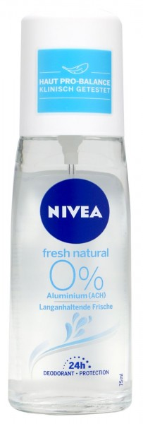 Nivea Fresh Natural Deodorant Spray, 75 ml