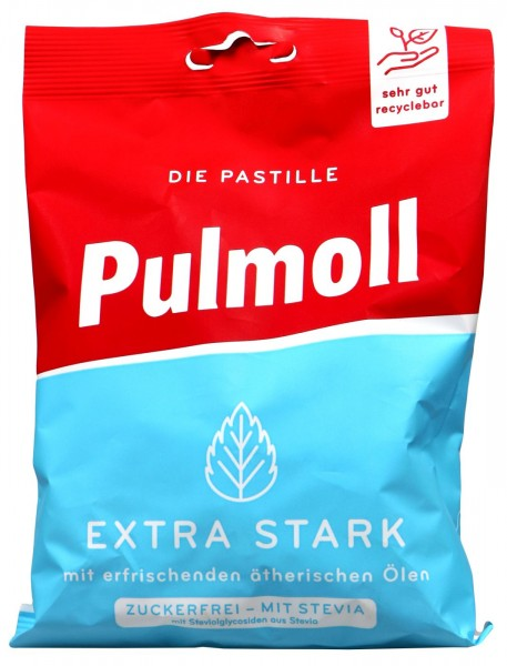 Pulmoll Extra Strong Sugar Free Bag, 75 G