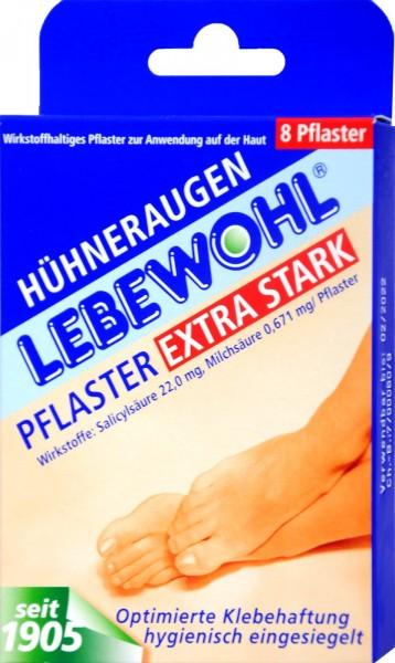 Lebewohl Extra Plasters, 8-count