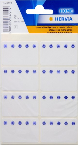 White Household Labels, 56-count