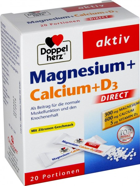 Doppelherz Magnesium Calcium D3 Direct, 20-count