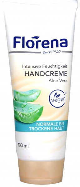 Florena Aloe Vera Hand Cream, tube, 100 ml