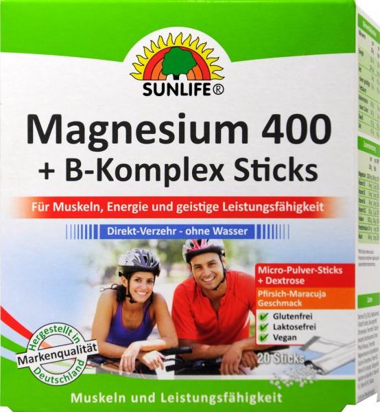 Sunlife Magnesium 400 B-Complex, 20-count