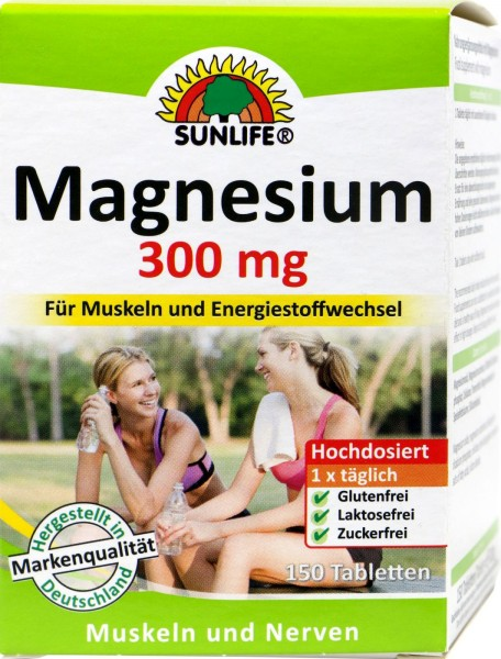 Sunlife Magnesium 300 Tablets, 150-count