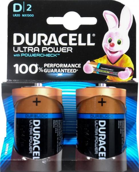 Duracell Ultra Power M3 D Mono, 2 x 1.5 V