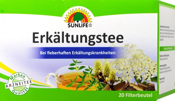 Sunlife Tea for Colds, 20-pack