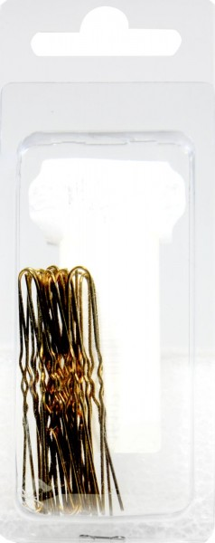 Wavy Gold Hairpins, large, 20-count