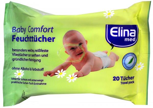 Elina Baby Comfort Wipes, 20-count