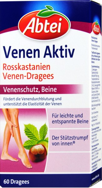 Abtei Vein Active with Horse Chestnut, 60-count