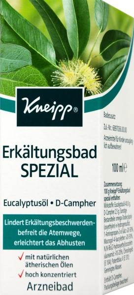 Kneipp Special Bath for Colds, 100 ml