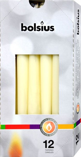 Bolsius Tapered Candle, Ivory, 250 x 24 mm