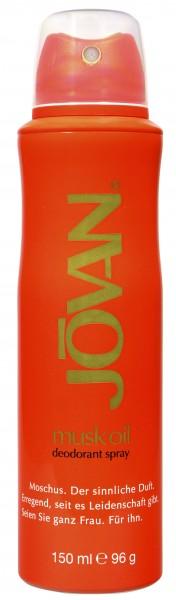 Jovan Musk Oil Deodorant Spray, 150 ml