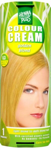 Hennaplus Colour Cream, Gold Blonde, 8.3