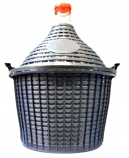 Demijohn in Plastic Basket, 15 l
