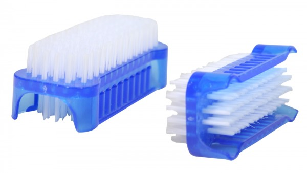 Double-sided Nylon Hand and Nail Brush, assorted colours