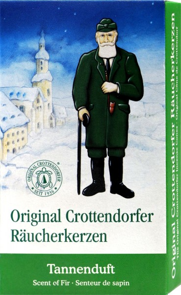 Crottendorfer Incense Candles, Pine scent, 24-pack